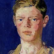 Head Of A Young Man Poster by Francis Campbell Boileau Cadell