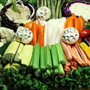 Healthy Veggie Snack Platter - 5d20688 Poster by Wingsdomain Art and Photography
