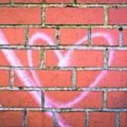 Heart Graffiti Poster by Tom Gowanlock