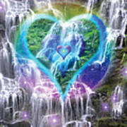 Heart Of Waterfalls Poster by Alixandra Mullins