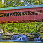 Helmick Mill Or Island Run Covered Bridge  Poster by Jack R Perry