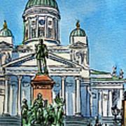 Helsinki Finland Poster by Irina Sztukowski