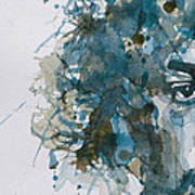 Hendrix Watercolor Abstract Poster by Paul Lovering