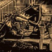 Her Bike Poster by Bob Orsillo