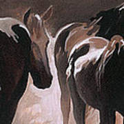 Herd Of Horses Poster by Natasha Denger