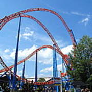 Hershey Park - Storm Runner Roller Coaster - 12125 Poster by DC Photographer