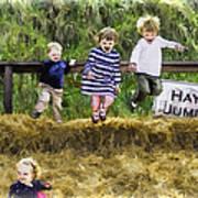 Hey Jump Poster by John Haldane
