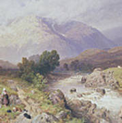 Highland Scene Near Dalmally Argyll Poster by Myles Birket Foster