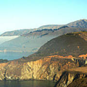 Highway One Bixby Bridge Close Poster by Barbara Snyder