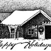 Holiday Barn Poster by Joy Bradley