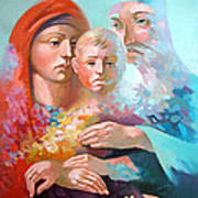 Holy Family Poster by Filip Mihail