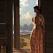 Homestead Woman Poster by Daniel Eskridge