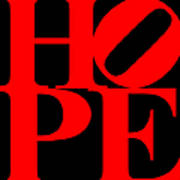 Hope 20130710 Red Black Poster by Wingsdomain Art and Photography