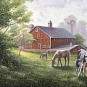 Horse Barn Poster by John Zaccheo