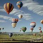 Hot Air Balloon Poster by Jim Steinberg