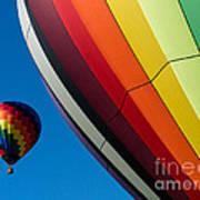 Hot Air Balloons Quechee Vermont Poster by Edward Fielding