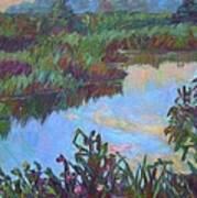 Huckleberry Line Trail Rain Pond Poster by Kendall Kessler