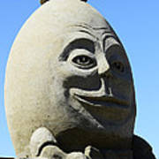 Humpty Dumpty Sand Sculpture Poster by Bob Christopher