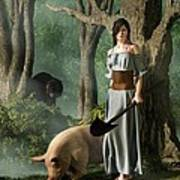 Huon The Truffle Hog Poster by Daniel Eskridge