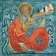 Icon Of Jonah And The Whale Poster by Juliet Venter