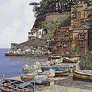 il porto di Sorrento Poster by Guido Borelli