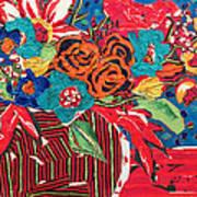 Ilana's Flower Arangement Poster by Diane Fine