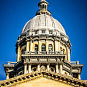 Illinois State Capitol Dome In Springfield Illinois Poster by Paul Velgos
