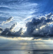 In Heaven's Light - Beach Ocean Art By Sharon Cummings Poster by Sharon Cummings