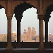 India, View Of Red Fort From Jama Poster by Richard Maschmeyer