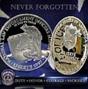 Indianapolis Metro Police Memorial Poster by Gary Yost