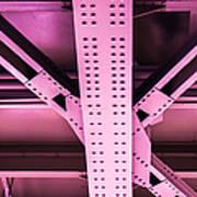 Industrial Metal Purple Poster by Alexander Senin