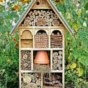 Insect Hotel Poster by Olivier Le Queinec