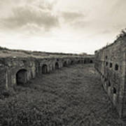 Inside Fort Macomb Poster by David Morefield
