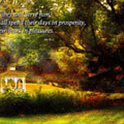 Inspirational - Prosperity - Job 36-11 Poster by Mike Savad