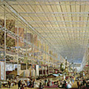 Interior Of The Great Exhibition Of All Poster by Edmund Walker