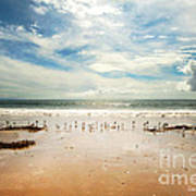 It Was A Sunny Day At The Beach From The Book My Ocean Poster by Artist and Photographer Laura Wrede