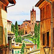 Italy Siena Poster by Irina Sztukowski
