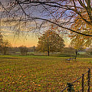 Ivinghoe Autumn Village Sunset Poster by David Dwight