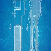 Jack Johnson Wrench Patent Art 1922 Blueprint Poster by Ian Monk