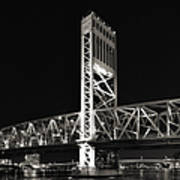 Jacksonville Florida Main Street Bridge Poster by Christine Till