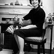 Jacqueline Kennedy Sitting Pretty Poster by Retro Images Archive