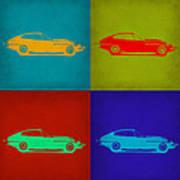 Jaguar E Type Pop Art 1 Poster by Naxart Studio