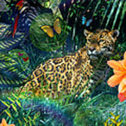 Jaguar Meadow Poster by Alixandra Mullins
