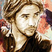 Jamiroquai - Stylised Pop Art Drawing Potrait Poser Stylised Pop Art Drawing Potrait Poser Poster by Kim Wang