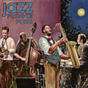 jazz festival in Paris Poster by Guido Borelli