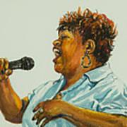 Jazz Singer Poster by Sharon Sorrels