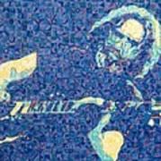 Jerry Garcia Chuck Close Style Poster by Joshua Morton