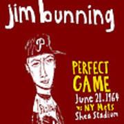 Jim Bunning Philadelphia Phillies Poster by Jay Perkins