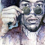 Jimi Hendrix 08 Poster by Yuriy  Shevchuk