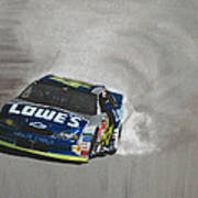 Jimmie Johnson-victory Burnout Poster by Paul Kuras